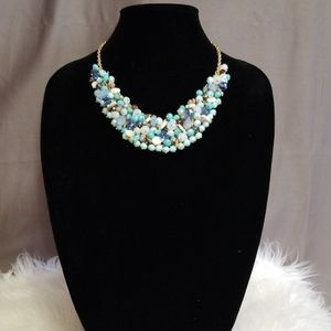 New! INC. Beaded Cluster Statement Necklace